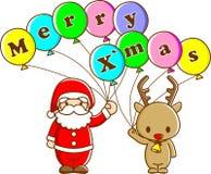 Santa y reno Imagen de archivo libre de regalías