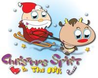 Santa y Rudolph Fotografía de archivo libre de regalías