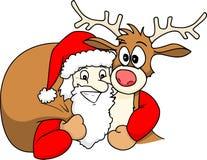 Santa y Rudolph libre illustration