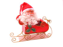 Santa y trineo Foto de archivo libre de regalías