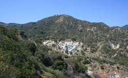 Santa Ynez Canyon Panorama. Geology in a canyon in the mountains of California Royalty Free Stock Photo