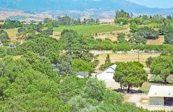 Santa Ynez dolina: Gospodarstwa rolne i winnicy zdjęcia royalty free