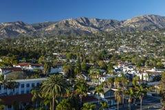 Santa Ynez Mountains en Santa Barbara royalty-vrije stock fotografie