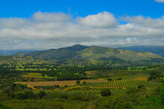 Santa Ynez Valley. California and the mediterranean landscape royalty free stock photo