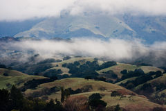 Santa Ynez valley. View on a Santa Inez valley and a mountain with clouds Stock Photos