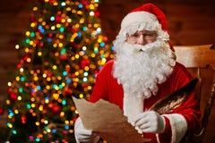 Santa z życzeniami zdjęcia stock