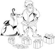 Santa z boże narodzenie teraźniejszość Claus Obraz Stock