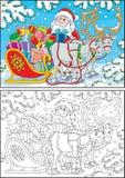 Santa z Bożenarodzeniowymi prezentami royalty ilustracja
