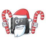 Santa z cukierku guzikiem f7 odizolowywającym w charakterze royalty ilustracja