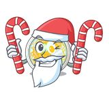 Santa z cukierku naengmyeon w kształt kreskówce royalty ilustracja