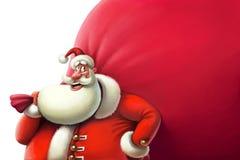 Santa z dużą torbą prezenty royalty ilustracja