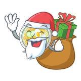 Santa z prezenta naengmyeon w kształt kreskówce ilustracji