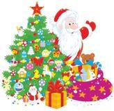 Santa z prezentami Obrazy Stock