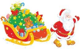 Santa z prezentami Fotografia Royalty Free