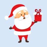 Santa z prezentem ilustracji