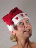 Santa zaskoczył panią Zdjęcia Stock