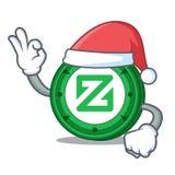 Santa Zcoin mascot cartoon style. Vector illustration Royalty Free Stock Photos