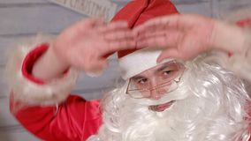 Santa znaki kamera Zdjęcie Stock