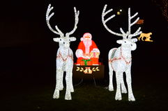 Santa at Zoo Light Festival. This photo was taken at Lincoln park zoo light festival Royalty Free Stock Image