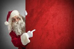 Santaclaus billboard Stock Image