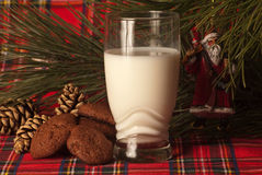 Santaclaus claus real cookies Royalty Free Stock Photos