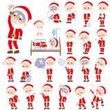 Santaclaus old man sickness. Set of various poses of Santaclaus old man sickness Royalty Free Stock Images