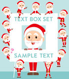 Santaclaus old man text box Royalty Free Stock Photography