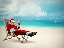Santaclaus vacation Stock Photos