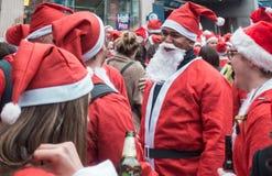 SantaCon事件在伦敦 免版税库存图片