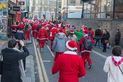 SantaCon event in London Royalty Free Stock Images