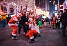 SantaCon im Times Square Stockfoto