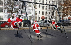 SantaCon in New York Stock Images