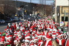 SantaCon in New York Royalty Free Stock Images