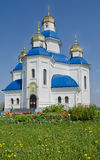 Santamente - igreja da proteção. Região de Dnipropetrovsk. Ucrânia Imagem de Stock Royalty Free