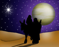 Santamente religioso do cartão de Natal Imagens de Stock Royalty Free