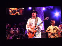 Santana concert on Dubai Jazz Festival Royalty Free Stock Images