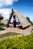 Santana in Madeira is a beautiful village on the north coast. is known by its small thatched triangular houses. Stock Image