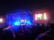 Santana-overleg op Doubai Jazz Festival Royalty-vrije Stock Foto