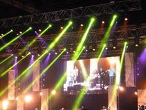 Santana-overleg op Doubai Jazz Festival Stock Afbeeldingen