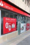 Santander bank Fotografering för Bildbyråer