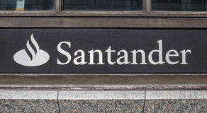 Santander-Bank Stockbild