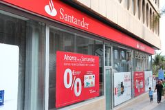 Santander-Bank Lizenzfreie Stockfotos