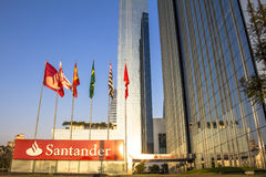 Santander Bank building Royalty Free Stock Image