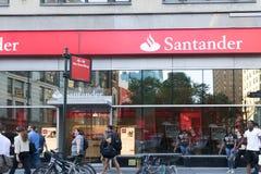 Free Santander Bank Front In New York. Stock Photos - 122736123