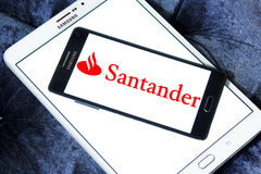 Santander bank logo Stock Images