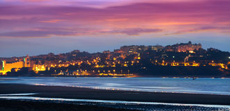 Santander from the Bay   in evening Royalty Free Stock Images