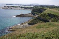 Santander beach, Cantabrian Sea Royalty Free Stock Photo