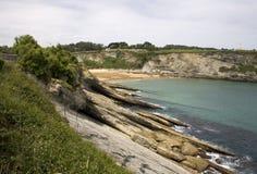 Santander beach, Cantabrian Sea Royalty Free Stock Images
