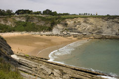 Santander beach, Cantabrian Sea Stock Image
