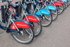 Santander bikes, London Stock Images